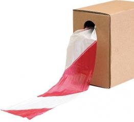 Zebra Tape Roll Red White 500m X 70mm