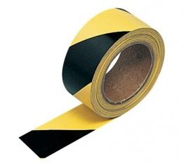Contractor Hazard Warning Tape Self Adhesive Black Yellow 33m X 50m