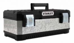 Stanley 26in Galvanised Metal & Plastic Toolbox