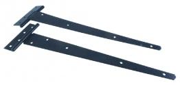 4trade Tee Hinge Medium Pair Black 450mm
