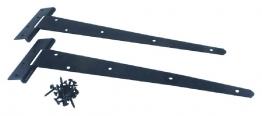 4trade Tee Hinge Medium Pair Black 400mm