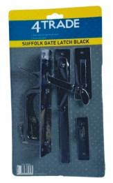 4trade Suffolk Gate Latch Black