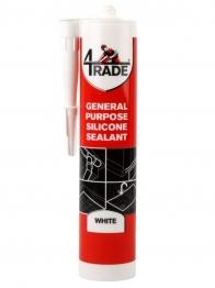 4trade General Purpose Silicone Sealant White 310ml