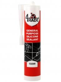 4trade General Purpose Silicone Sealant Clear 310ml