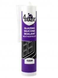 4trade Glazing Silicone Sealant Clear