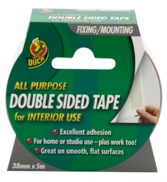Duck All Purpose Double Sided Tape 38mm X 5m