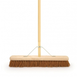 4trade Coco Broom With Metal Support Bracket 610mm