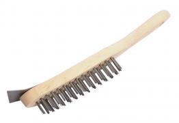 4trade 4 Row Wire Brush + Scraper