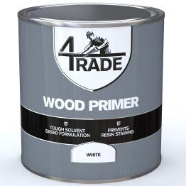 4trade Wood Primer White 1l
