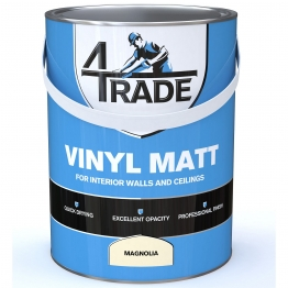 4trade Vinyl Matt Emulsion Paint Magnolia 5l