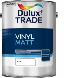 Dulux Trade Vinyl Matt Emulsion Paint White 5l