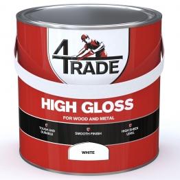 4trade Gloss Paint Brilliant White 2.5l