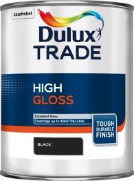 Dulux Trade High Gloss Paint Black 1l