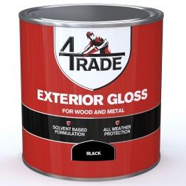 4trade Exterior Gloss Paint Black 1l