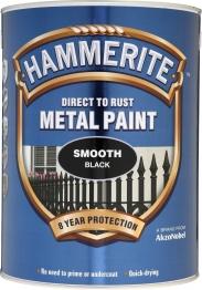 Hammerite Metal Paint Smooth Black 5l