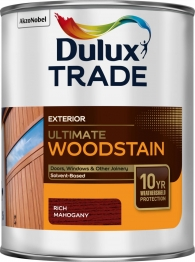 Dulux Trade Weathershield Ultimate Woodstain Rich Mahogany 1l
