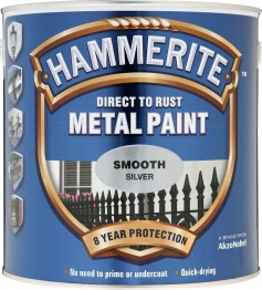Hammerite Metal Paint Smooth Silver 2.5 Litre