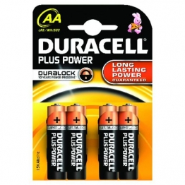 Duracell Mn1500p Alkaline Batteries Aa Pack 4