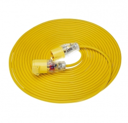 Birchwood Extension Lead Yellow Arctic 14m X 1.5mm X 110v E85111