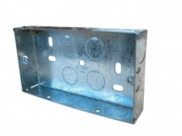 4trade Metal Box 2 Gang 25mm