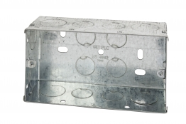 4trade Metal Box 2 Gang 47mm