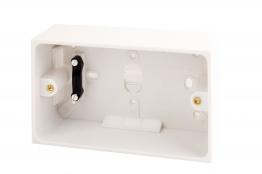 4trade Pattress Box 2 Gang 47mm
