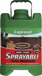 Cuprinol One Coat Sprayable Fence Treatment Harvest Brown 5l