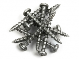 Exterior - Tite Pan Head Silver 4mm X 40mm 200 Pieces