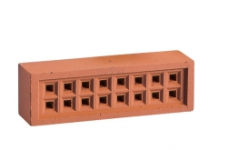Hepworth Square Hole Airbrick Red 65mm