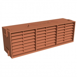 Manthorpe Combination Airbrick Terracotta 9in X 3in