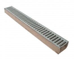 Osma Polyester Concrete Drainage Channel With Galvanised Grating 1m