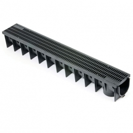 Clark-drain Plastic Channel With Mesh Grate 1m