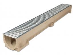 Aco Raindrain Channel Galvanised Grating 118mm X 97mm X 1000mm