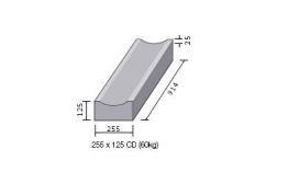 Bs Concrete Dished Channel Cd Rk3600000 255mm X 125mm