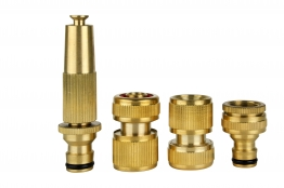 4trade Brass Hose Connector Set