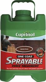 Cuprinol One Coat Sprayable Fence Treatment Autumn Brown 5l