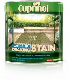 Cuprinol Anti Slip Decking Stain Golden Maple 2.5l