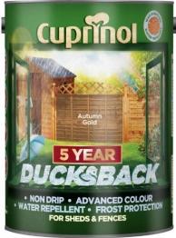 Cuprinol 5 Year Ducksback Autumn Gold 5l