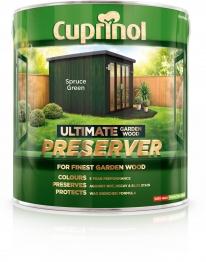Cuprinol Ultimate Garden Wood Preserver Spruce Green 4l