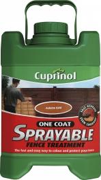 Cuprinol One Coat Sprayable Fence Treatment Autumn Gold 5l
