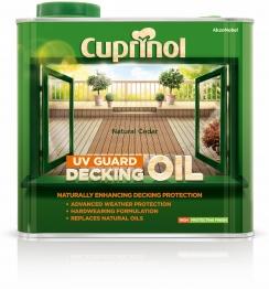 Cuprinol Uv Guard Decking Oil Natural Cedar 2.5l