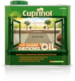 Cuprinol Uv Guard Decking Oil Natural Oak 2.5l