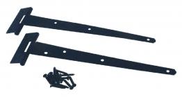 4trade Tee Hinge Light Pair Black 250mm