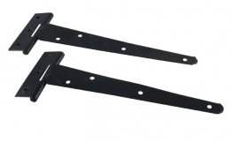 4trade Tee Hinge Light Black 203mm Pack Of 2