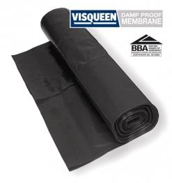 Visqueen Polythene Damp Proof Membrane Bba Black 4m X 12.5m 500mu