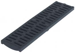 Aco Multidrain Grating Composite Heelguard Black 123mm X 21mm X 500mm