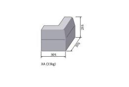 Bs Concrete Kerb Half Battered External Corner Hbxa Rk5100000 125mm X 255mm