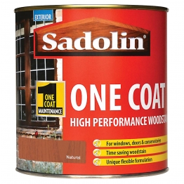 Sadolin One Coat High Performance Woosdtain Natural 1 Litre