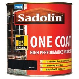 Sadolin One Coat High Performance Woosdtain Ebony 1 Litre
