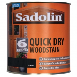 Sadolin Quick Dry Woodstain Ebony 1 Litre